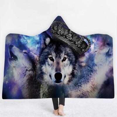 Queen Wolf 3D Printing Hooded Blanket