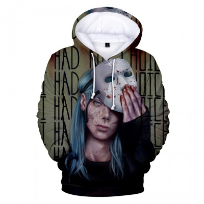 Game Sally Face Hoodie - Mask Green Pullover Hoodies 3D