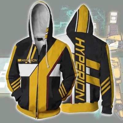 Borderlands Hyperion Zip Up Hoodie Jacket - Hoodieshow com