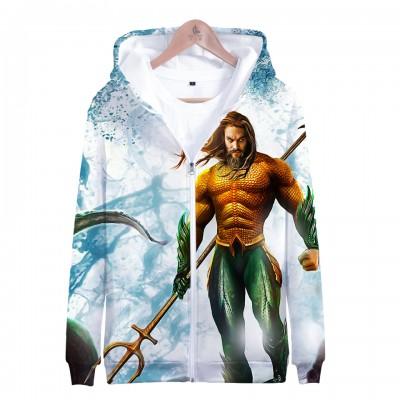 DC Aquaman 3D Print Sweatshirt Casual Hoodie Boys Sweater Zipper Jacket Coat