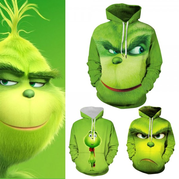 How The Grinch Stole Christmas Grinch 3D Pullover Hoodie Sweatshirt