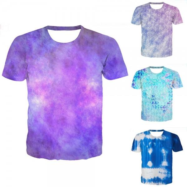 Tie-Dye T-Shirt Purple Short Sleeve Tee