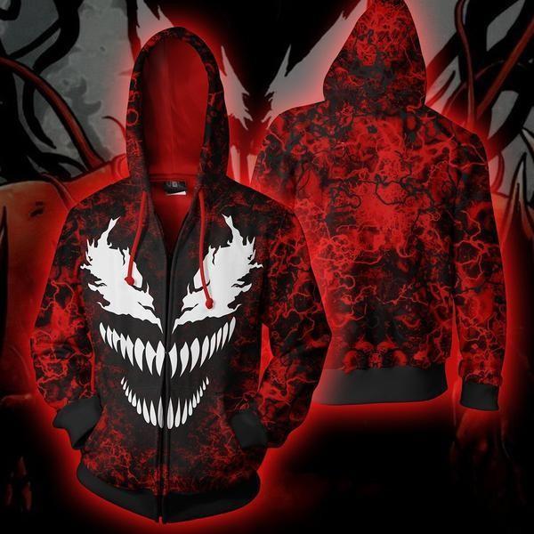 Spiderman Venom Carnage 3D Zip Up Hoodie Jacket