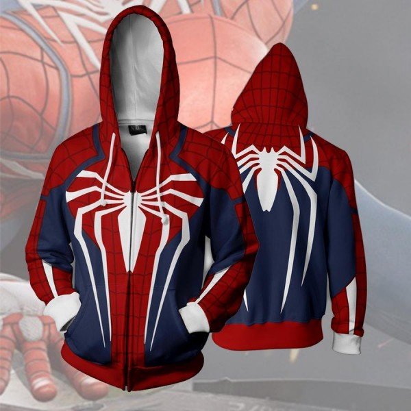 Spiderman Ps4 New Look 3D Zip Up Hoodie Jacket
