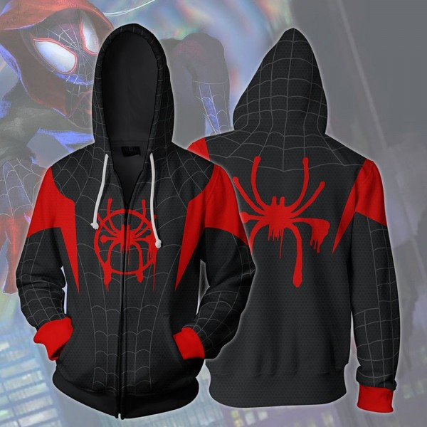 Spiderman Hoodie Spider-Man Into The Spider Verse Jacket