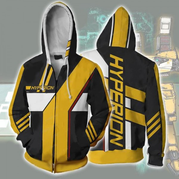 Borderlands Hyperion Zip Up Hoodie Jacket