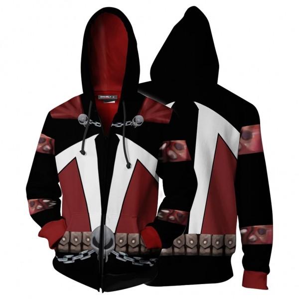 Spawn Hoodie 3D Zip Up Jacket Cosplay Costume