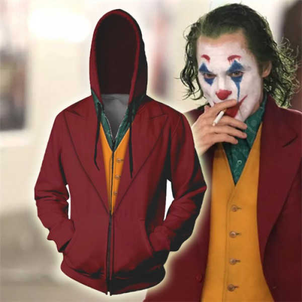 The Joker 3D Zip Up Hoodie Jacket Cosplay