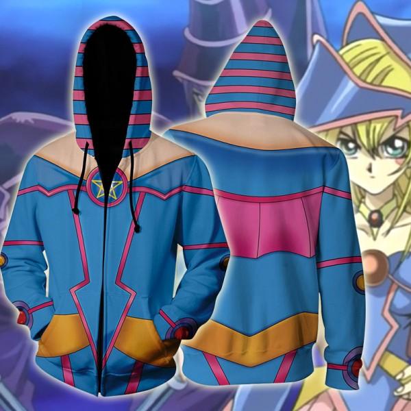 Yu-Gi-Oh Hoodies - Dark Magician Girl Zip Up Hoodie Jacket Cosplay Costume