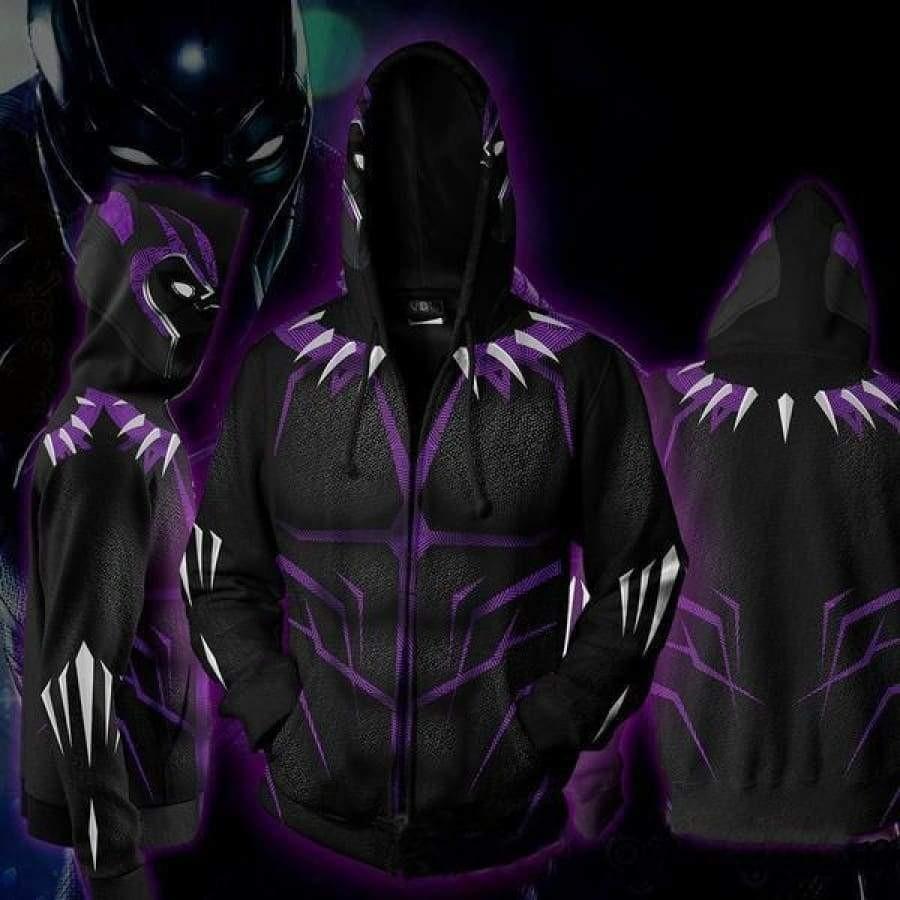 2XL Marvel Black Panther 2018 3D Pattern Mens Graphic Lightweight Hoodie