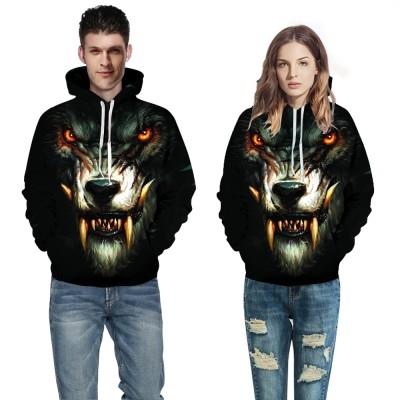 8e35ddc9db56 Wolf Face 3D Animal Hooded Sweatshirt