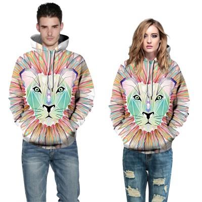 1b38247396b2 Pink Lion 3D Print Hooded Sweatshirt Long Sleeve
