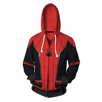5a4cf2097baa Spiderman Fashion Zip Up 3D Hoodie Jacket