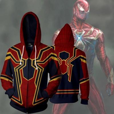 7c351d7e5 Spiderman Hoodie - Homecoming Iron Spider-Man 3D Zip Up Hoodies Jacket Coat