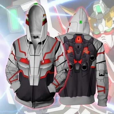 MOBILE SUIT GUNDAM Z Men/'s Hoodie Sweatshirt Cosplay Zip Up Coat Jacket Costume