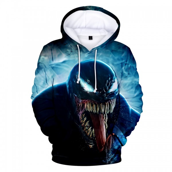d0c81832724c Venom Movie 3D Print Skull Pullover Hooded Sweatshirt - Hoodieshow.com