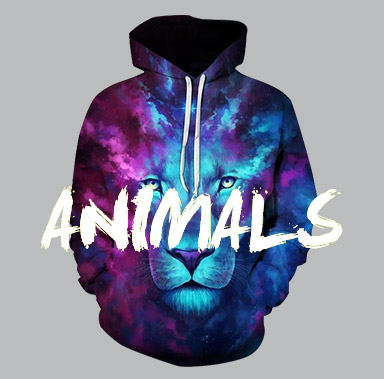 cfcac5802249 Hoodie Show - High Quality 3D Movie   Animal Hooded Sweatshirts for ...